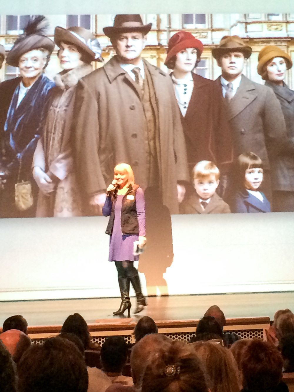 Introducing Jessica Fellows and welcoming her on stage at Sunset Center in Carmel, CA.