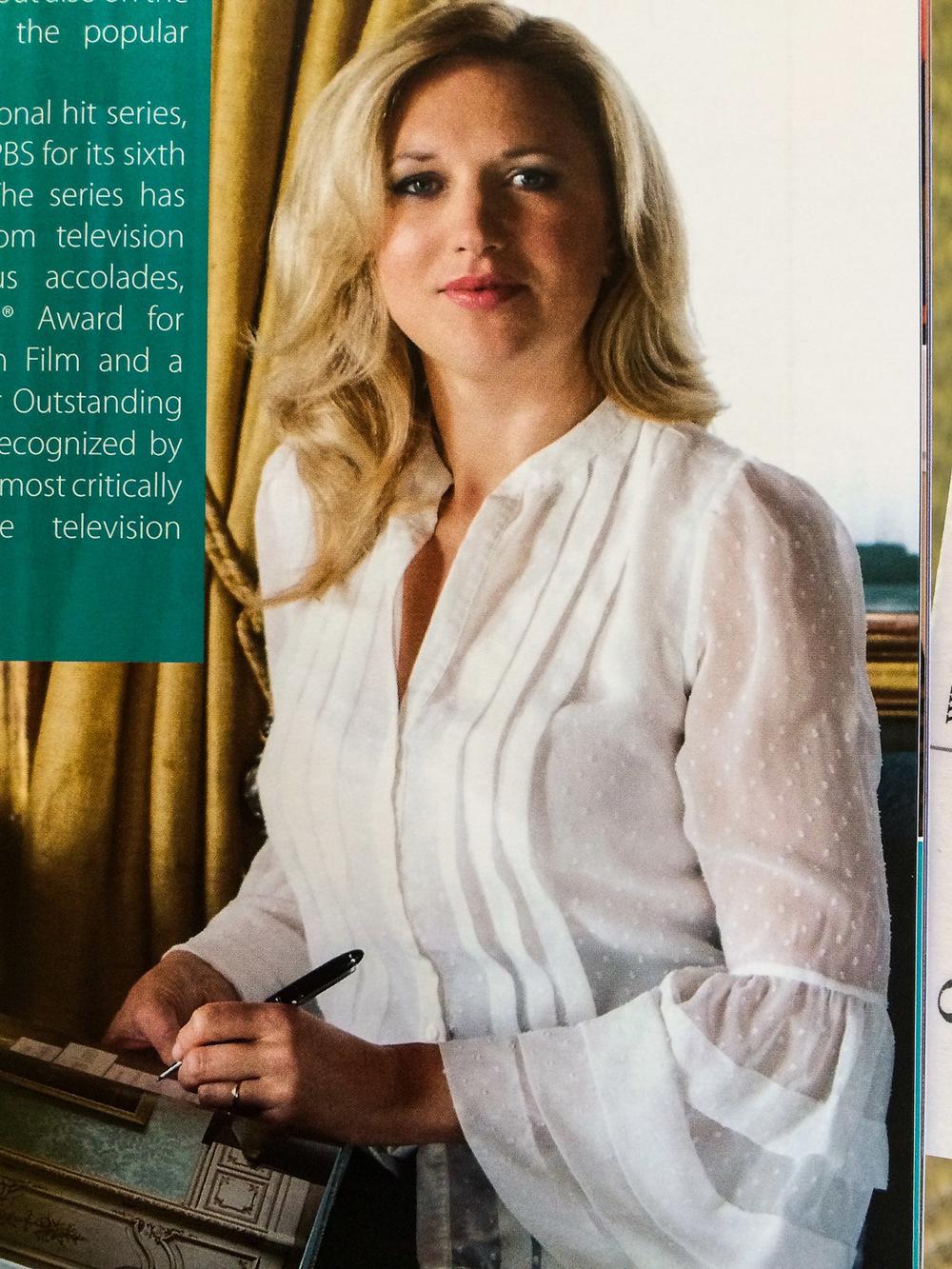 Jessica Fellowes, niece of Julian Fellows of Downton Abbey fame.
