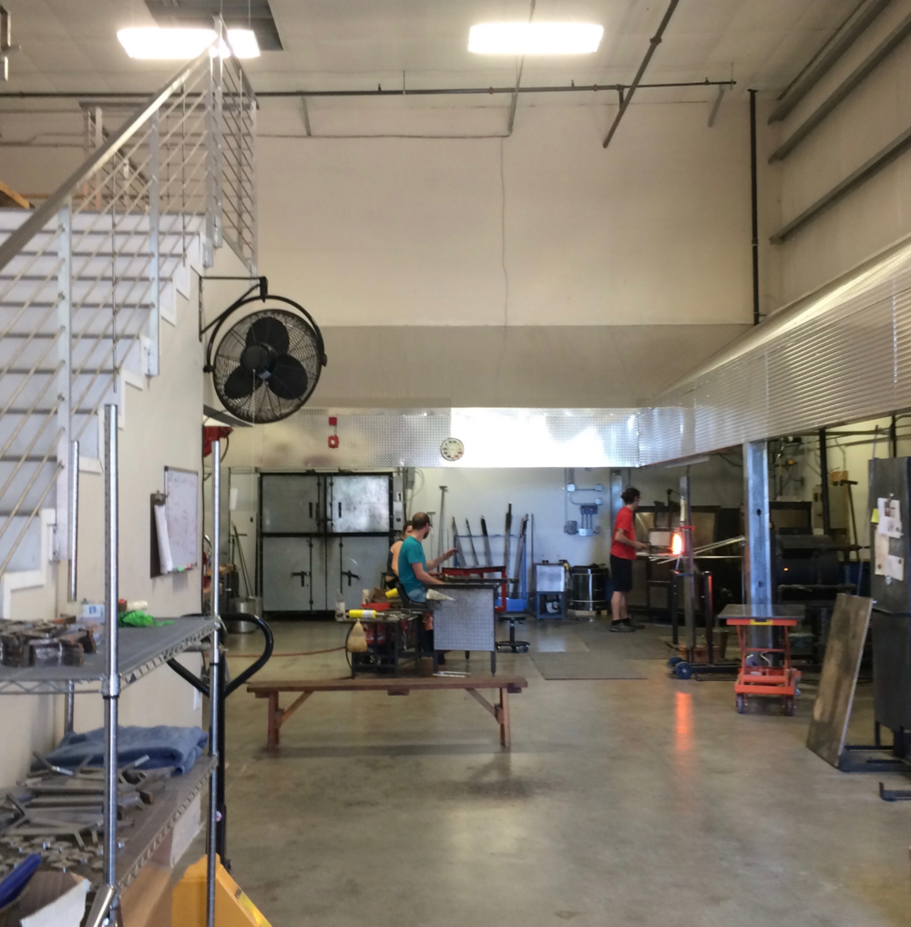 Where the glass blowing magic happens at Studio Bel Vetro in Healdsburg, CA.