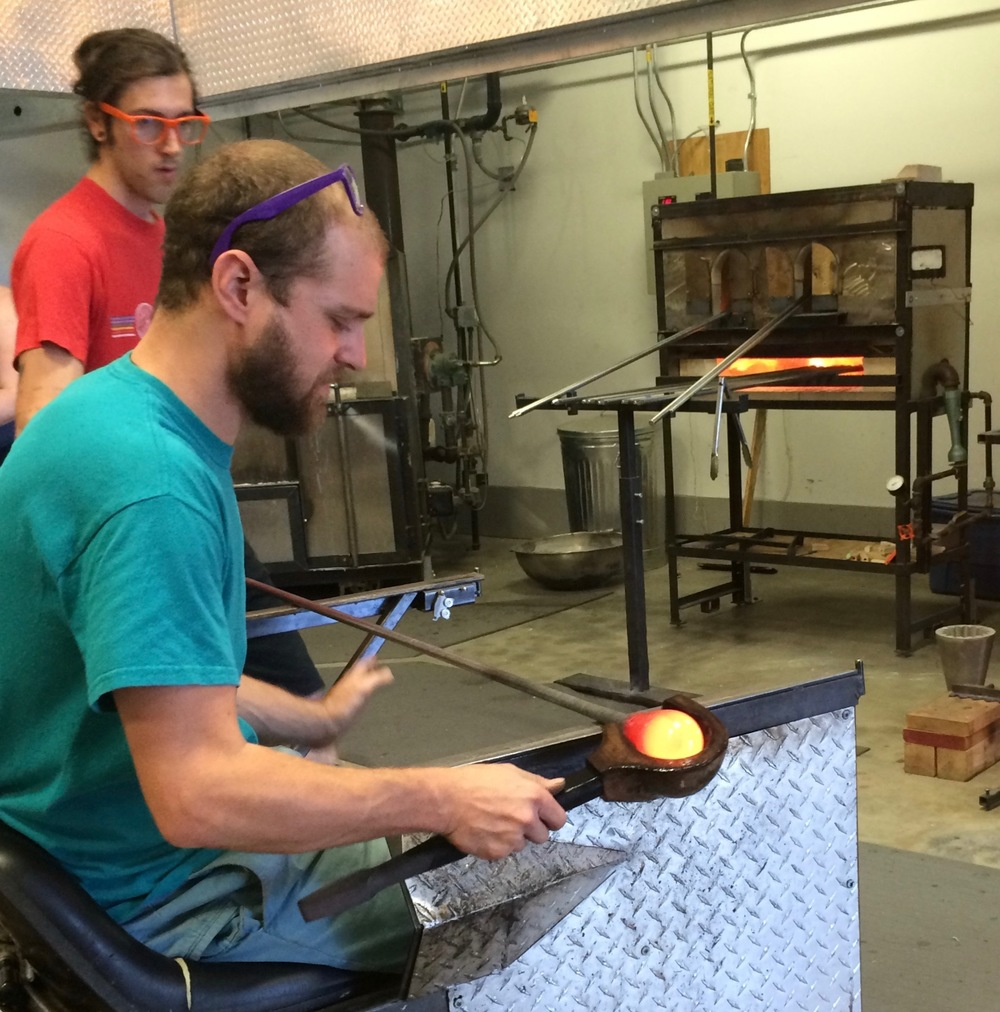 Master Glass blower at Studio Bel Vetro.