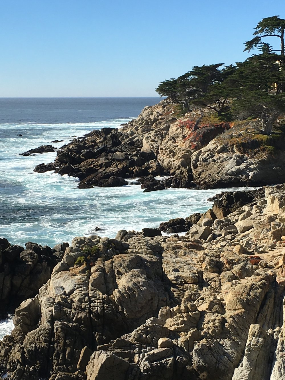 Rocky coasts of Pebble Beach.