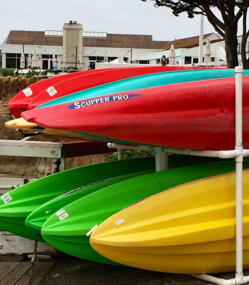Kayak rentals for visitors.