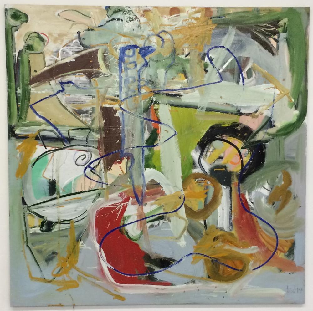 "DEALER-TYCOON, oil on canvas,48""X48"". 2014"