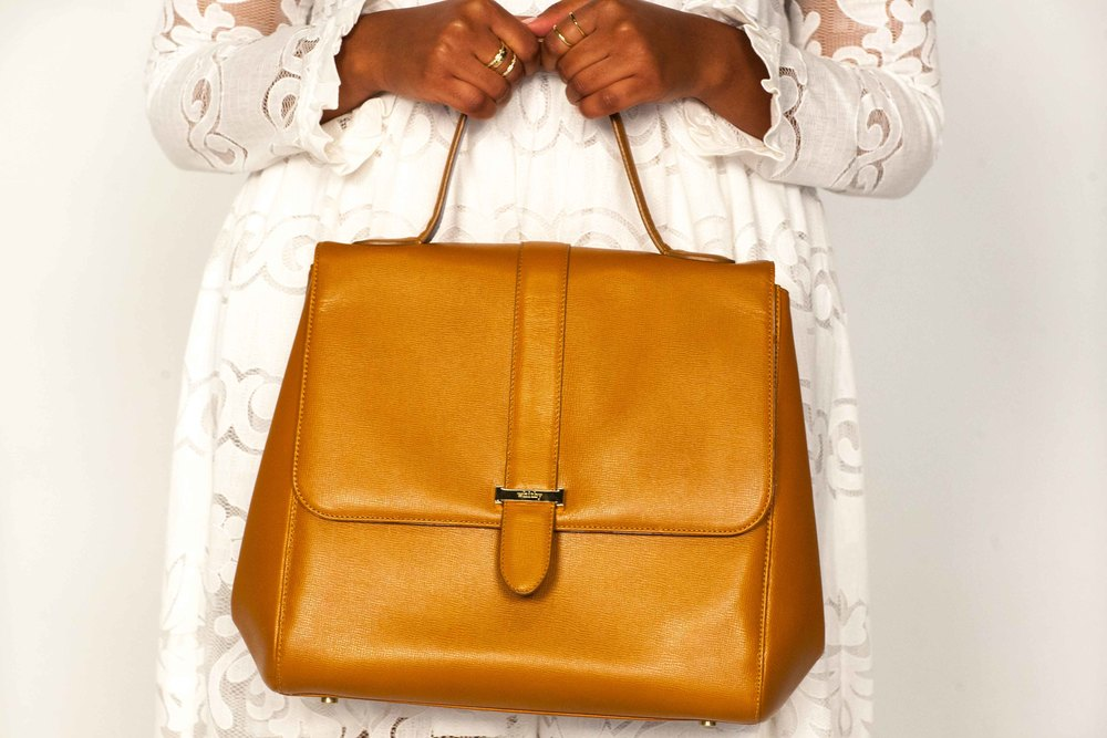 The Codet Satchel in Caramel