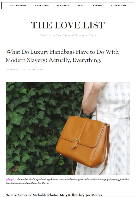 THE LOVE LIST: What Do Luxury Handbags Have To Do With Modern-Day Slavery? Actually, Everything.