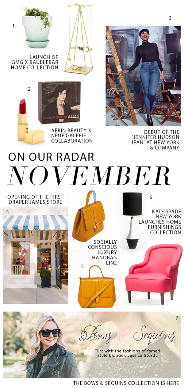THE GLITTER GUIDE: On Our Radar For November