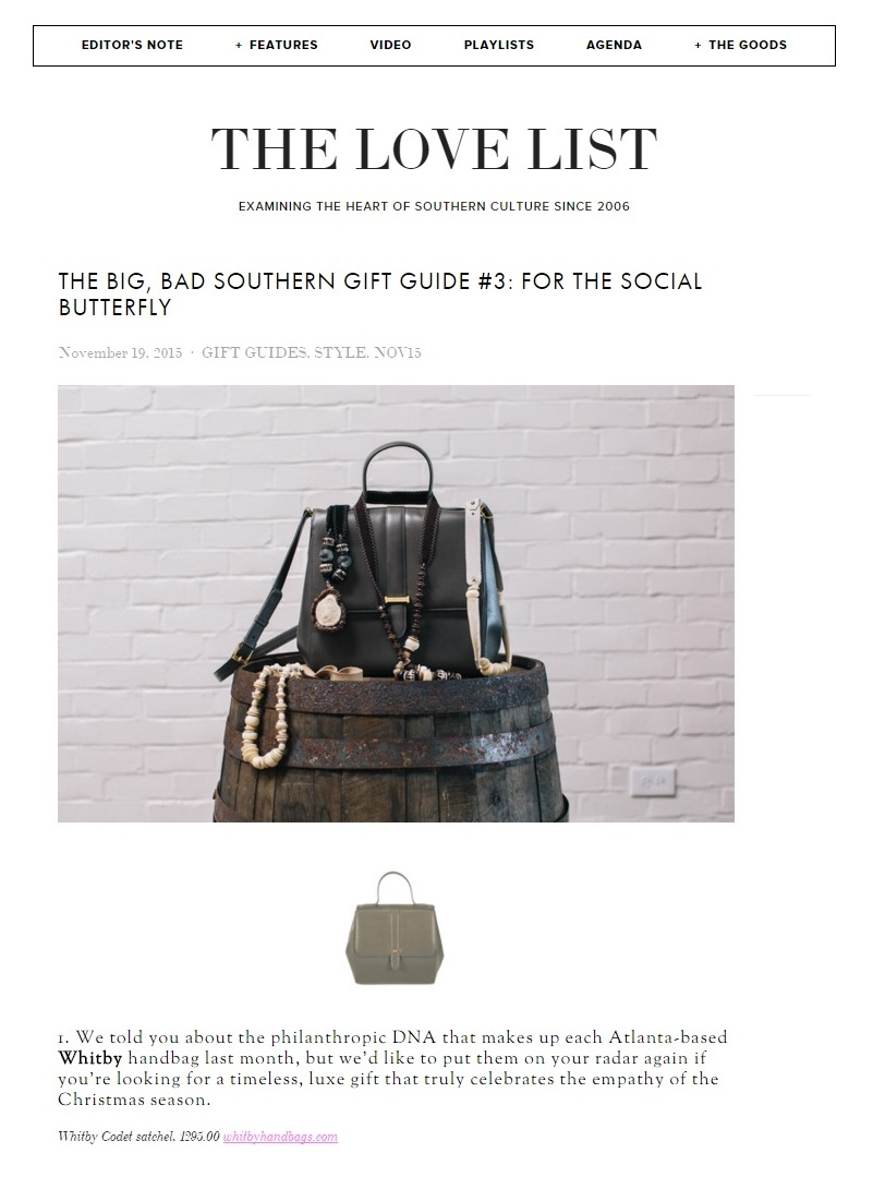 THE LOVE LIST - Big, Bad Southern Gift Guide 2015