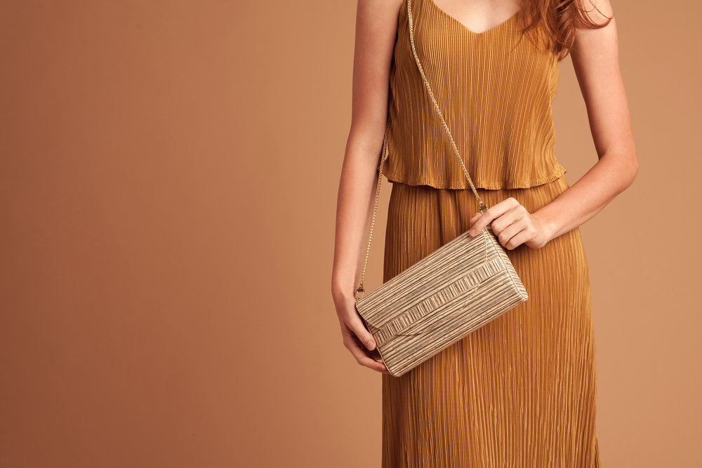 Maryamana Clutch Whitby Stripe