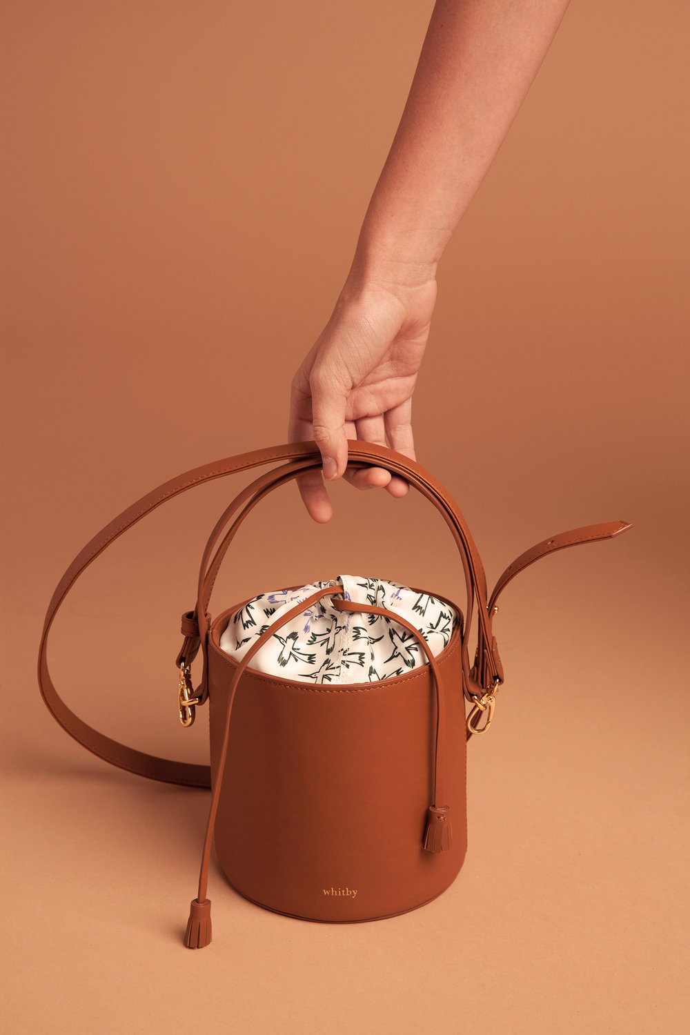 Marisol mini bucket bag tan cute bucket