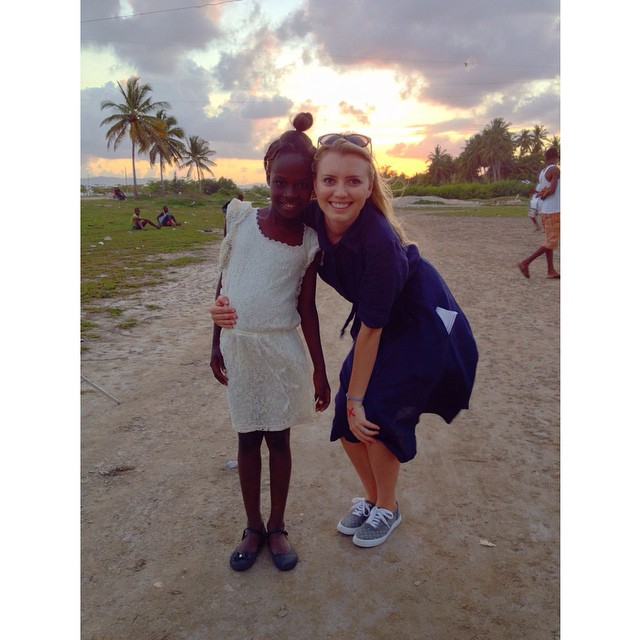 Whitby founder Britt Adams in La Croix, Haiti in February 2014.