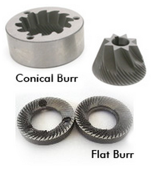 conical burrs