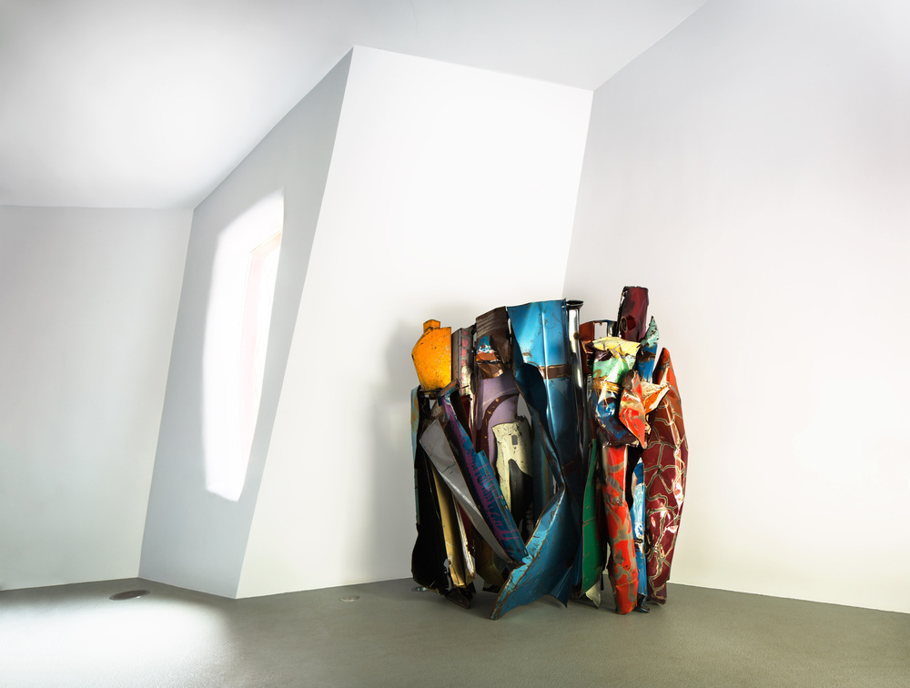 John Chamberlain,   The Archbishop, The Golfer, and Ralph   (1982-83)