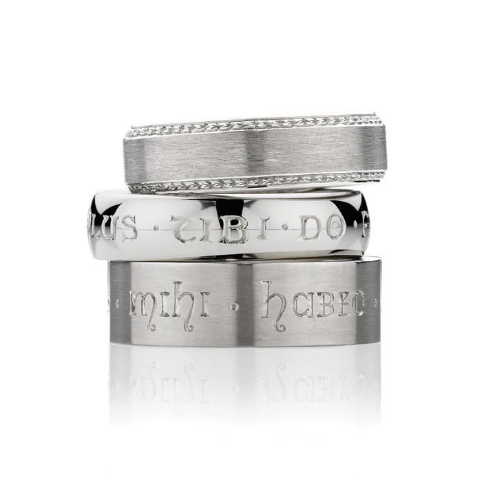 Men's Hand Engraved Wedding Rings