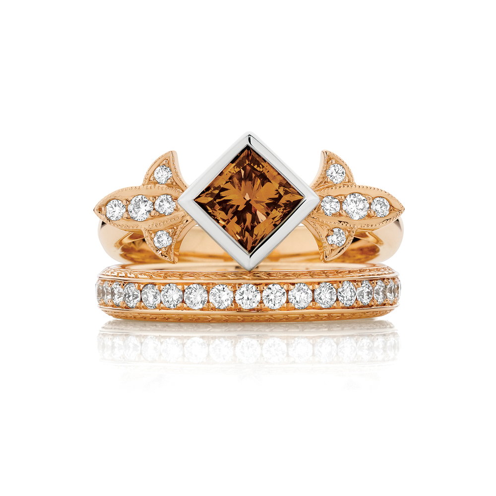 Marginalia Cognac Diamond Engagement Ring