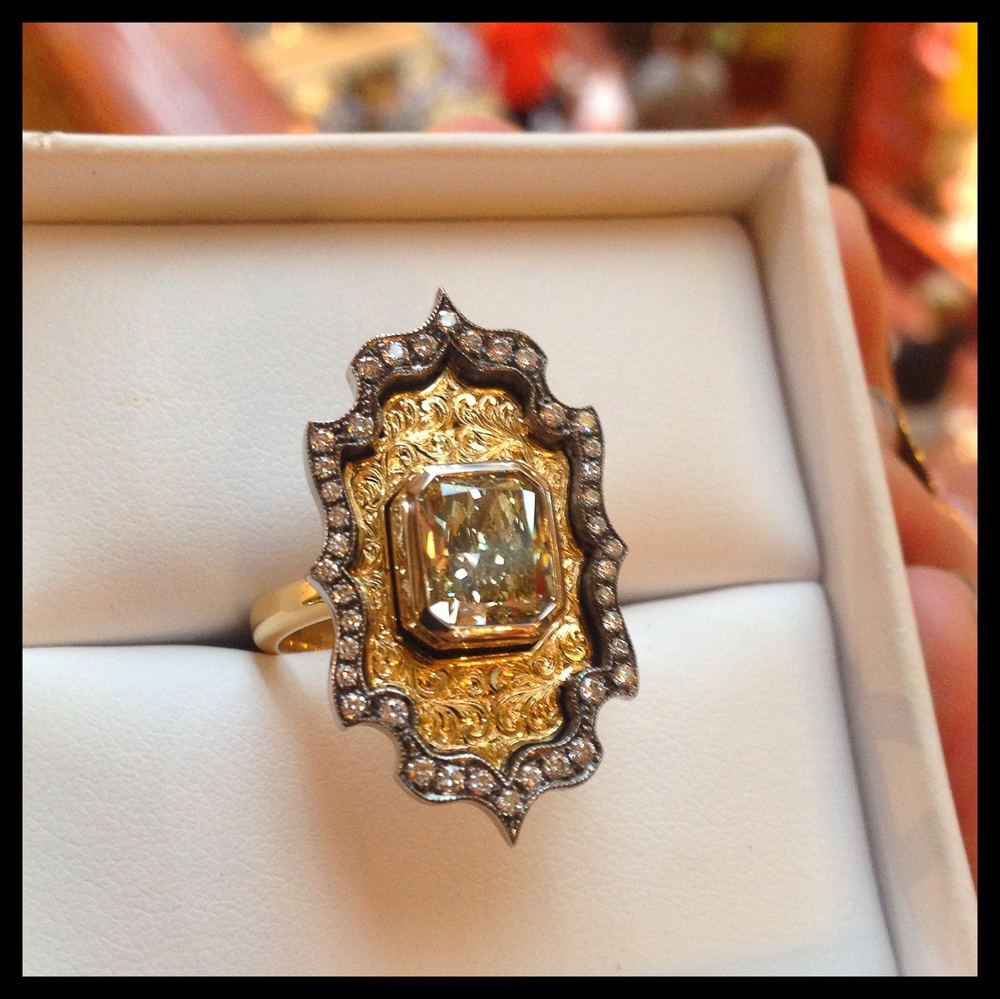 The Happily Ever After Yellow Diamond Ring