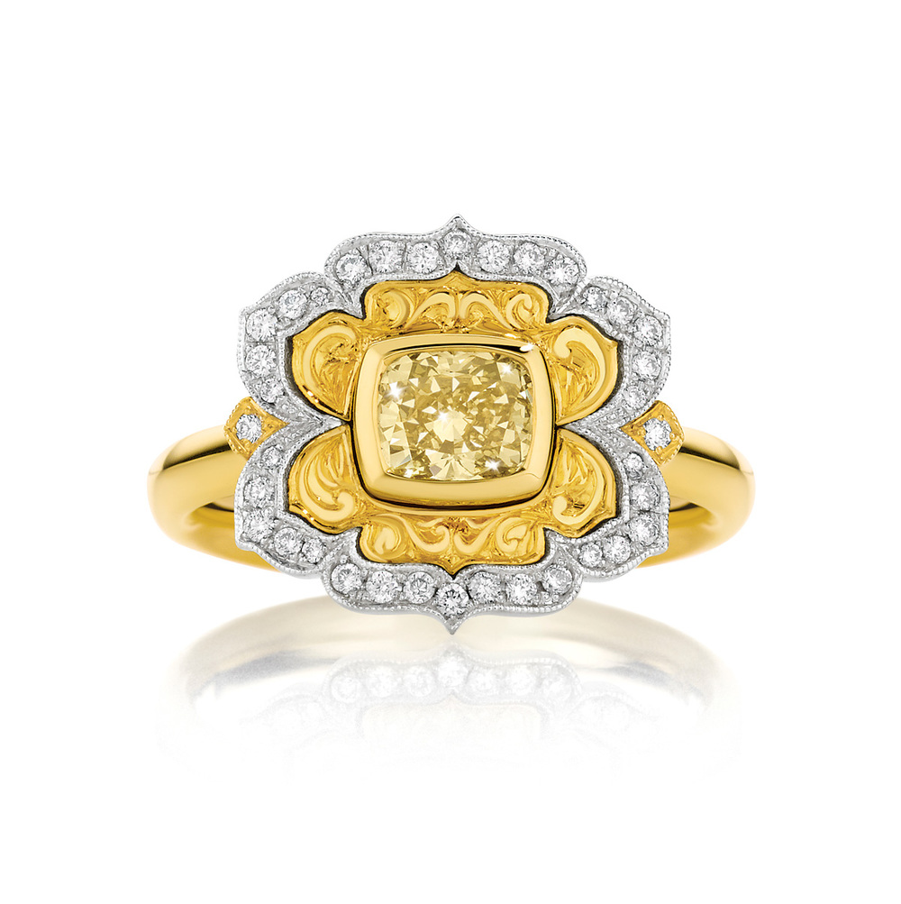 Arabesque Lotus Ring