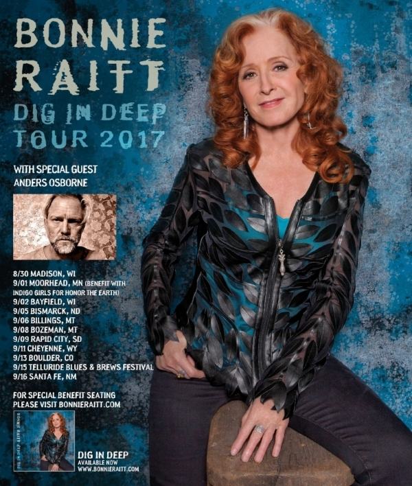 """Anders will be touring solo supporting the one and only Bonnie Raitt on her """"Dig In Deep Tour"""" Summer 2017!"""