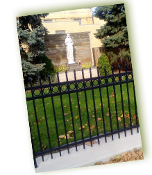 Fence at St. John Cantius Parish, Cleveland