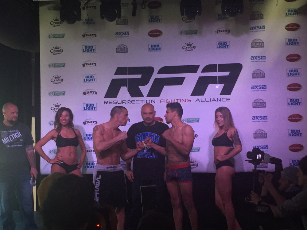Official weigh in