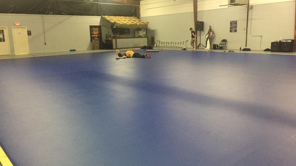 Incredible mat space.