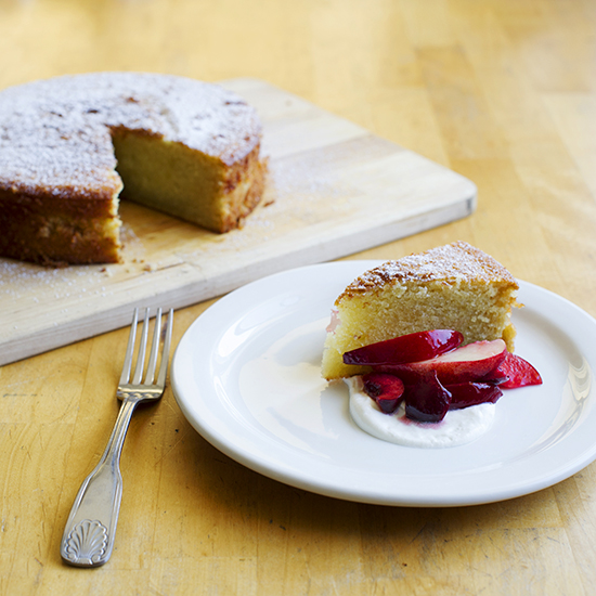 Olive Oil & Almond Cake with Stone Fruit Salad
