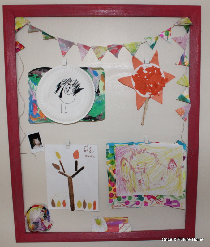 Easy DIY Kids Art Display — Once & Future Home