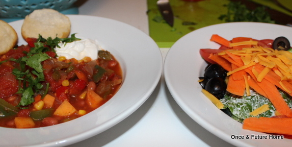 WFD: Simple (Vegetarian) Chili — Once & Future Home