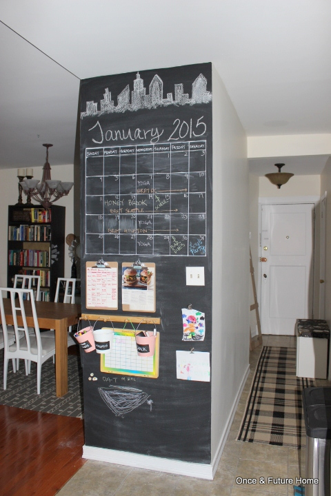 Attirant DIY Chalkboard Command Center U0026amp; Activity Zone