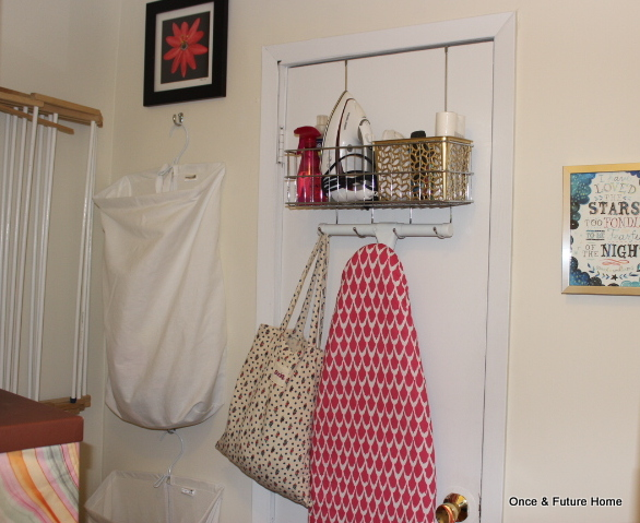 Over The Door Ironing Board Holder, Hanging Laundry Bags And Drying Rack
