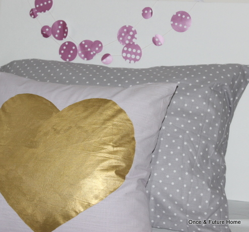 DIY Hand Painted Heart Pillow — Once & Future Home