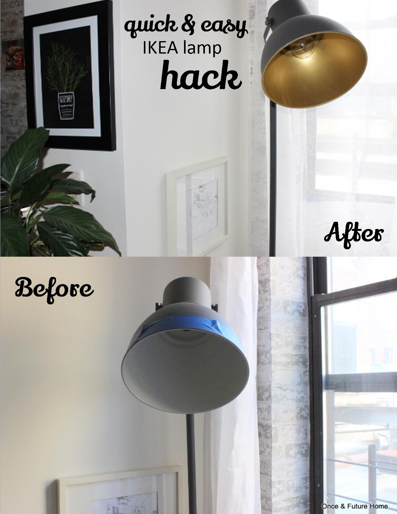 Quick Easy Ikea Lamp Hack Once Future Home