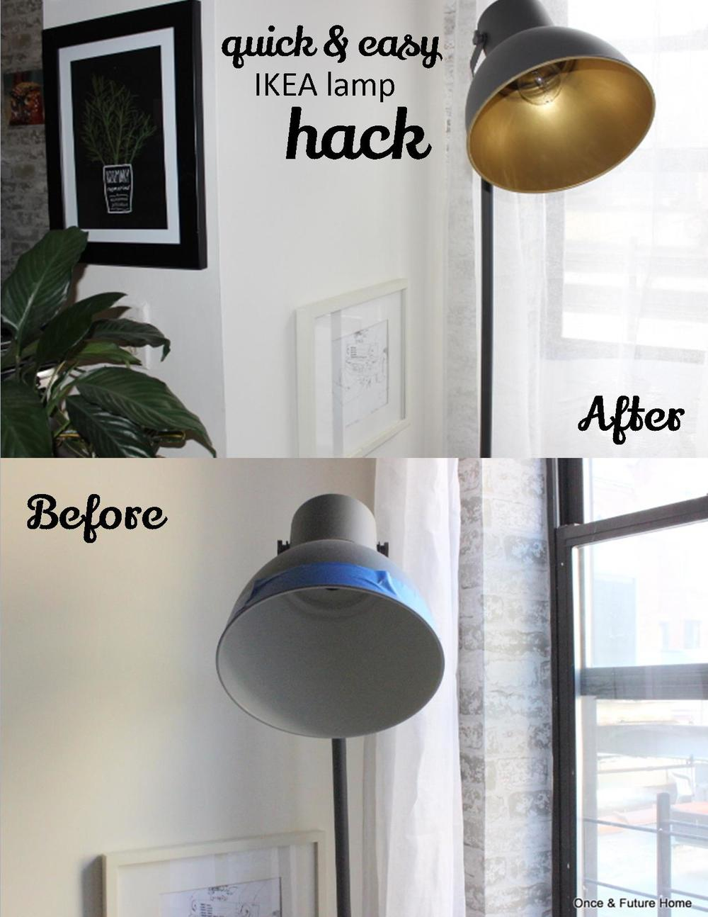 Quick Amp Easy Ikea Lamp Hack Once Amp Future Home