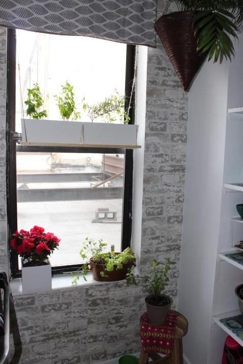 DIY Herb Garden Window Shelf