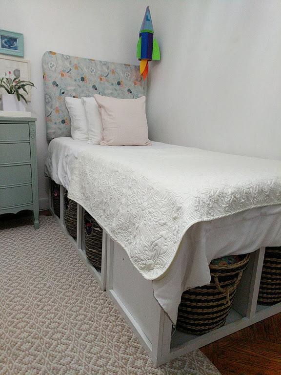 Under bed baskets in a big girl room & Sleep on It: Under-Bed Storage 3 Ways u2014 Once u0026 Future Home