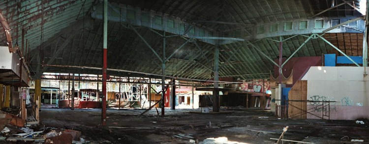 This portion of the building housed the carousel