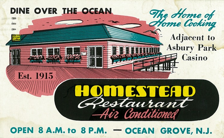 Homestead Restaurant  Postmarked September 12, 1952