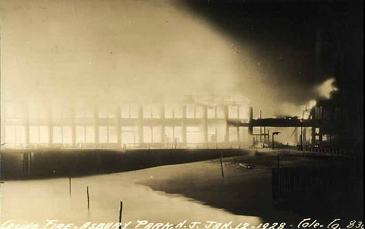The Original Casino on Fire - January 12, 1928