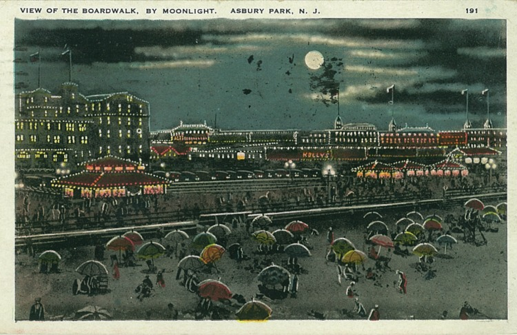The Boardwalk by NIght, Asbury Park