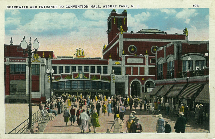 The Boardwalk and Convention Hall, Asbury Park