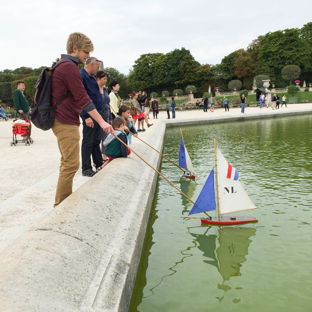 We rented sail boats and sailed them around a fountain in the Luxembourg Gardens.