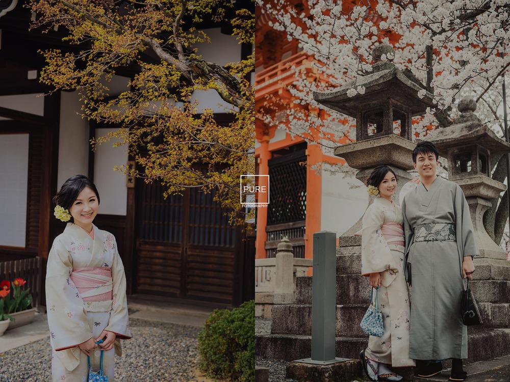 京都和服寫真 海外婚紗 清水寺 櫻花
