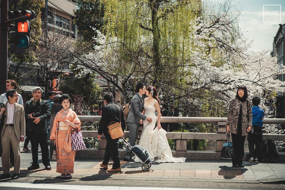 京都婚紗  海外婚紗  京都婚紗拍攝 京都櫻吹雪