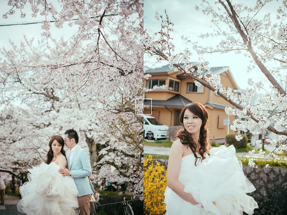 櫻花 京都婚紗拍攝 京都海外婚紗 婚紗工作室