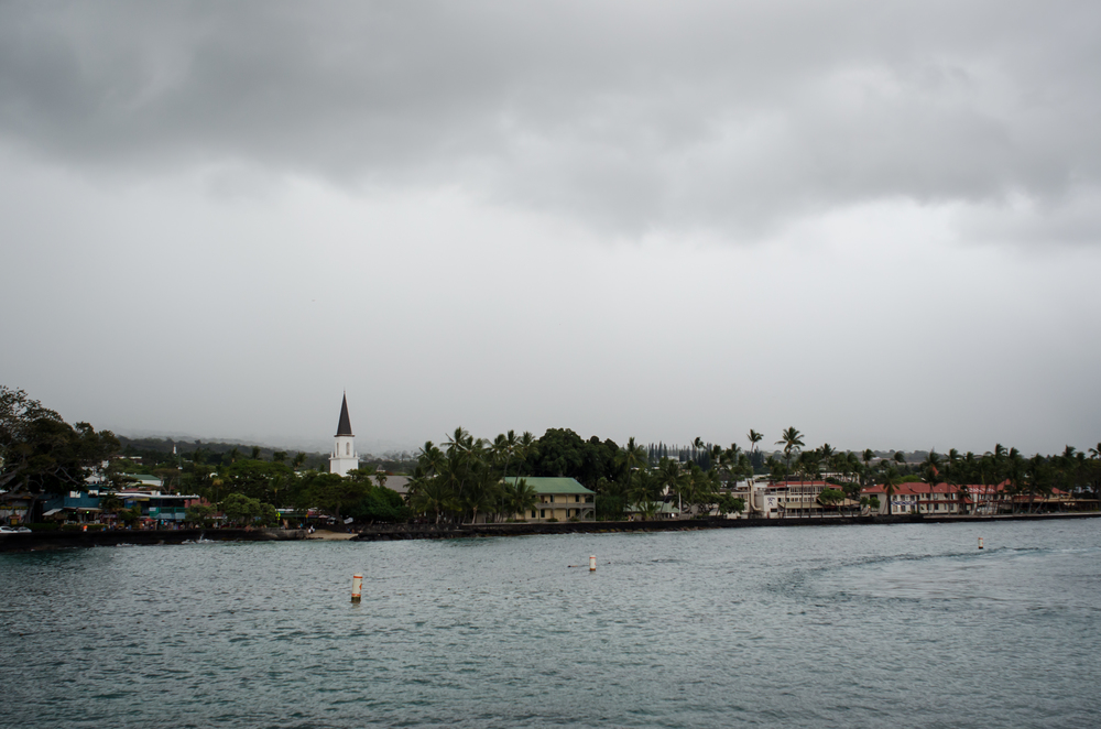 A view of Kona from the pier