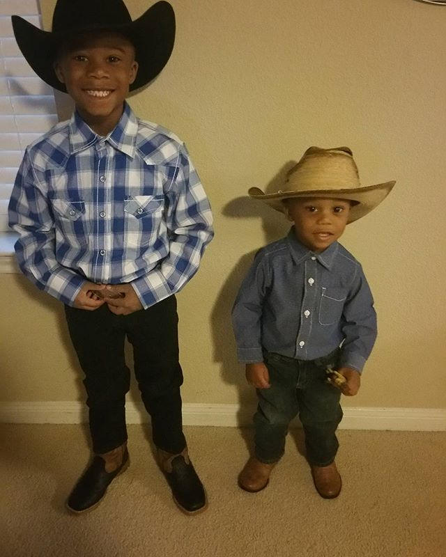 Howdy!!! From my boys.  Happy Go Western Day!!