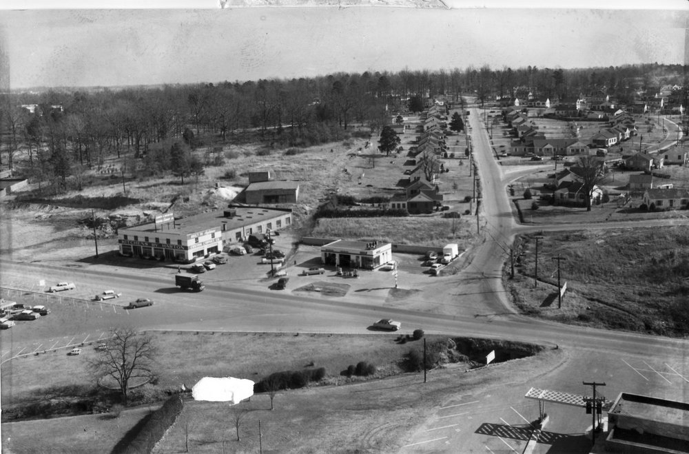 Aerial photo of Belvidere Park in 1957