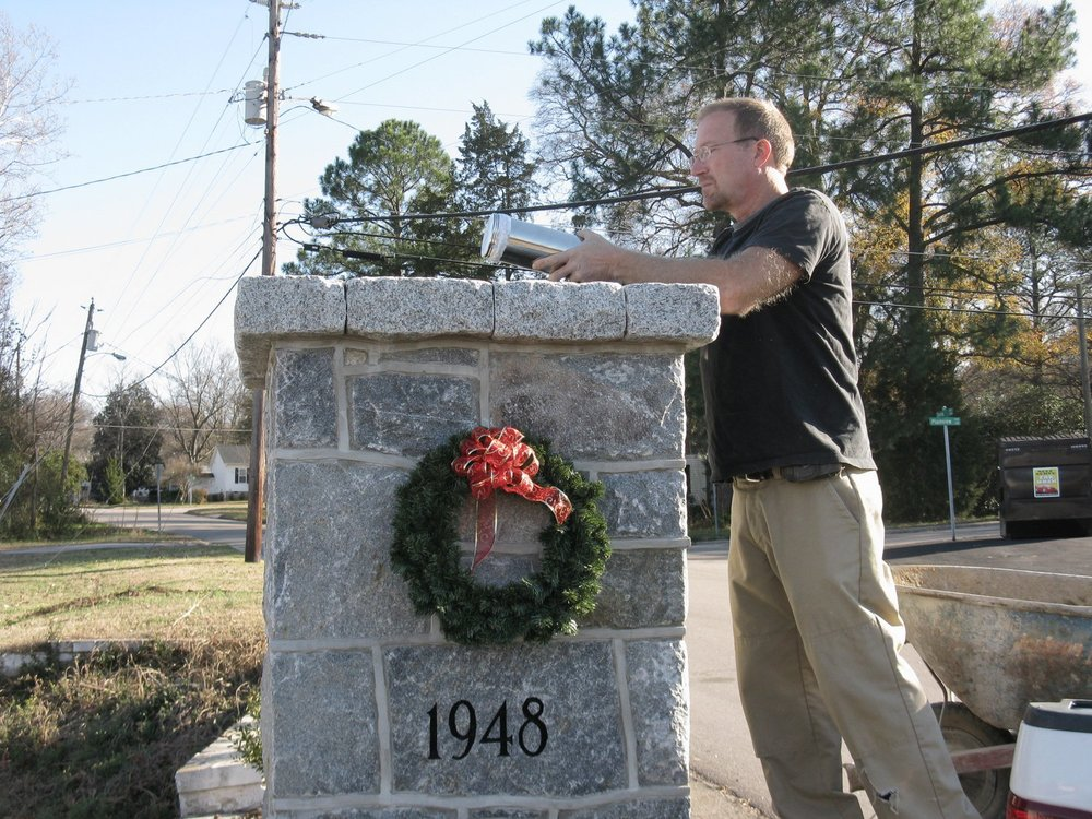 Belvidere Park time capsule installation, December 11, 2011
