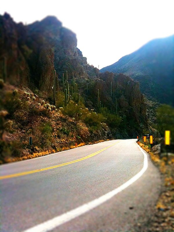If you happen to find yourself on a road through the mountains take it slow. Then, turn around and take it fast.