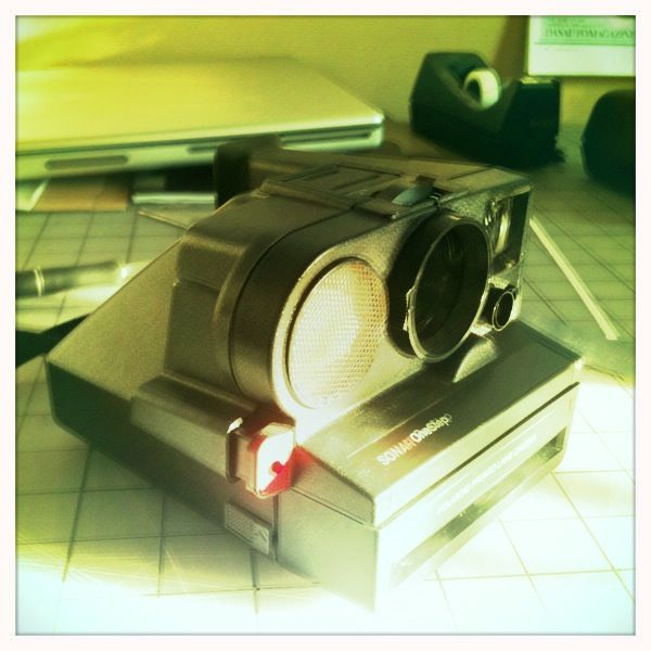 After seeing me buying a vintage model on eBay yesterday, my Creative Director gave me this one today. Radical!