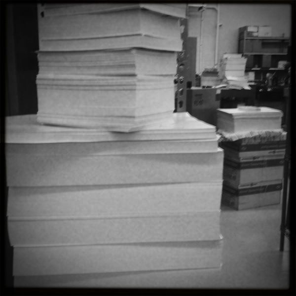 Holly paper stacks!